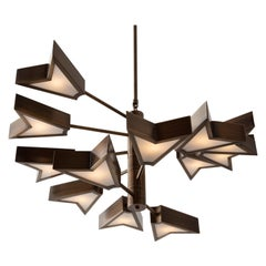 Osiris Chandelier '6.12' in Antique Brass by Matthew Fairbank