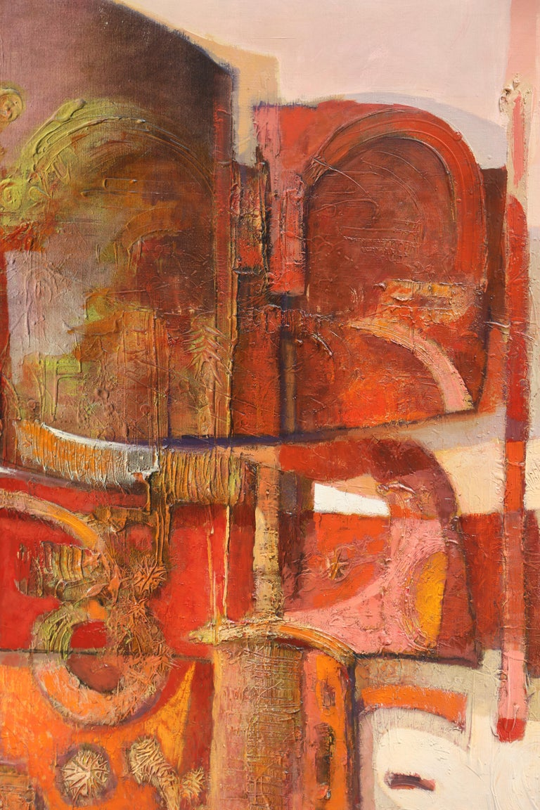Large Abstract Expressionist painting by Oskar D'Amico For Sale 1