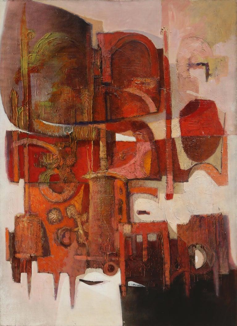 Artist: Oskar Maria D'Amico, Italian (1923 - 2003) Title:Untitled Year: 1967 Medium: Oil on Canvas, signed Size: 66 x 48 in. (167.64 x 121.92 cm)