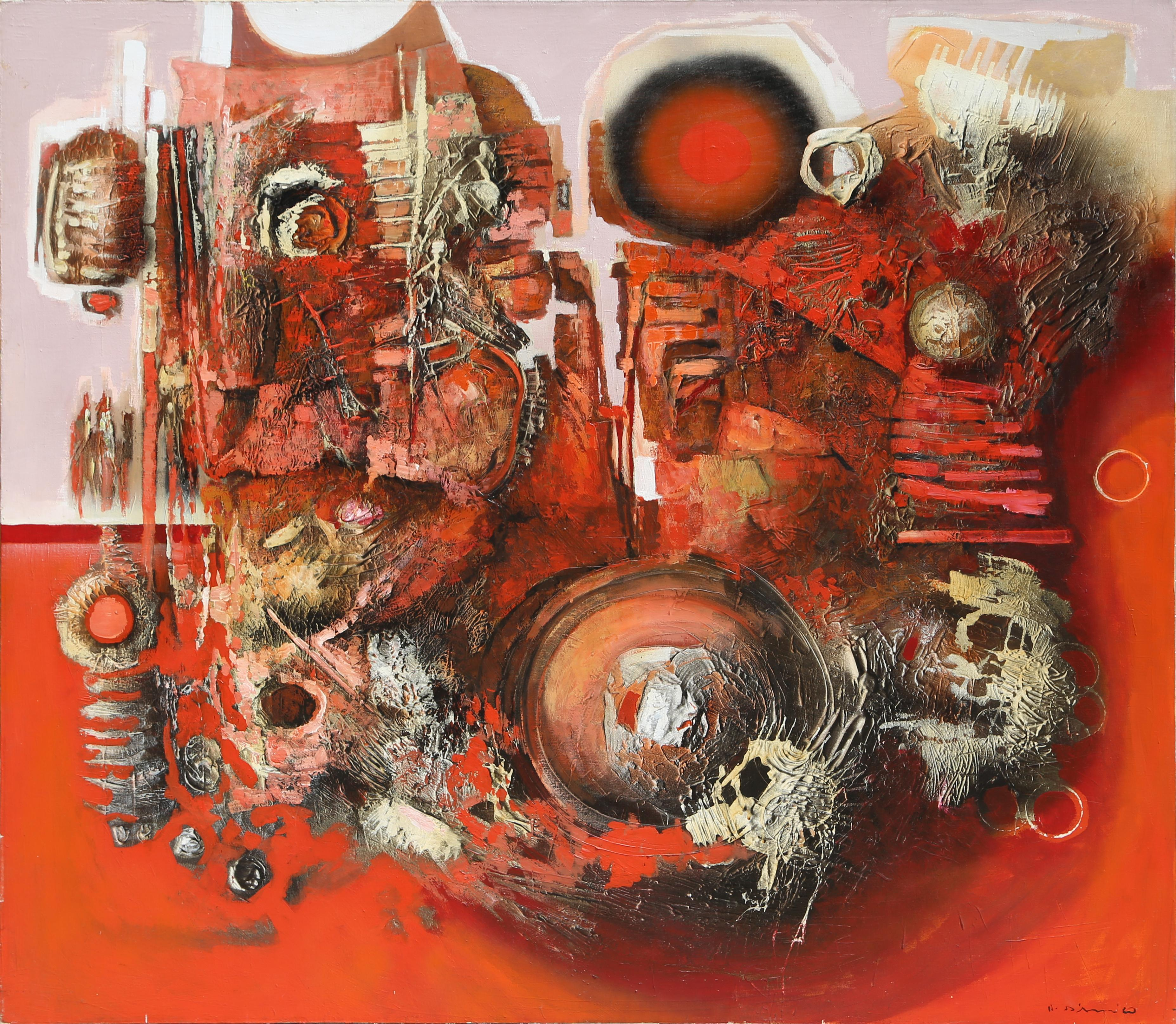 Large Abstract Expressionist painting by Oskar D'Amico