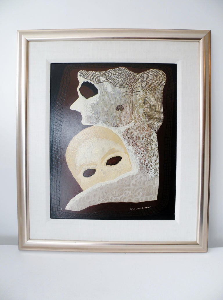 Modern Oskar Fischinger Surrealism Painting Titled