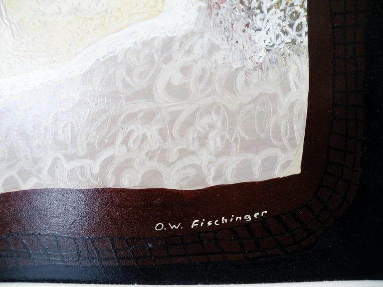 Hand-Painted Oskar Fischinger Surrealism Painting Titled
