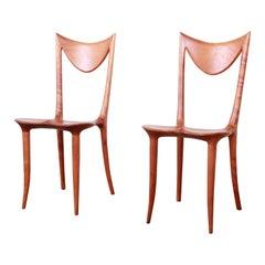 Oskar Kogoj Studio Craftsman Sculptural 'Venetia' Chairs, Pair