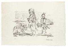 Pastoral Scene - Oskar Kokoschka - Original Lithograph Mid 20th Century