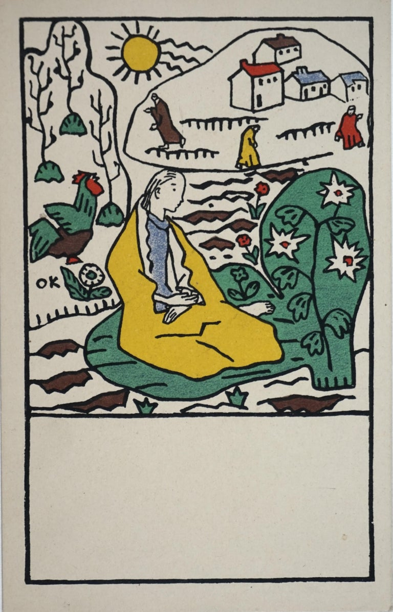 Oskar Kokoschka Landscape Print - Postcard