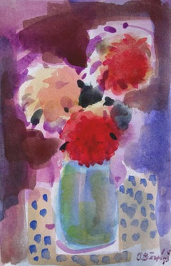 Asters. 1992, paper, watercolor, 28x18 cm