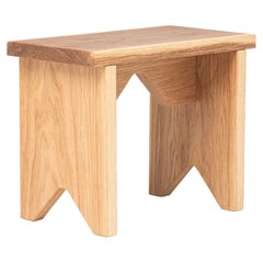 """Low Stool """"Oslinchik 02"""" Natural Oak Collection"""
