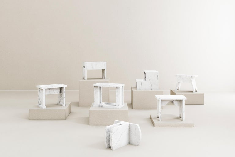 Minimalist Oslinchik Collection, Traditional Ukrainian Stools by Ivan Voitovych For Sale