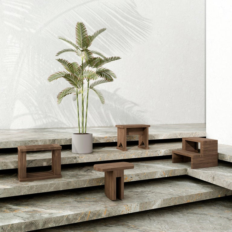 Contemporary Oslinchik Collection, Traditional Ukrainian Stools by Ivan Voitovych For Sale