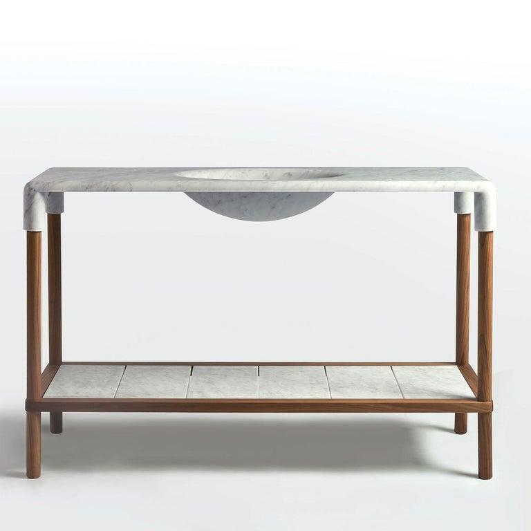 Modern Oslo Console by Gritti Rollo by MGM Marmi & Graniti For Sale