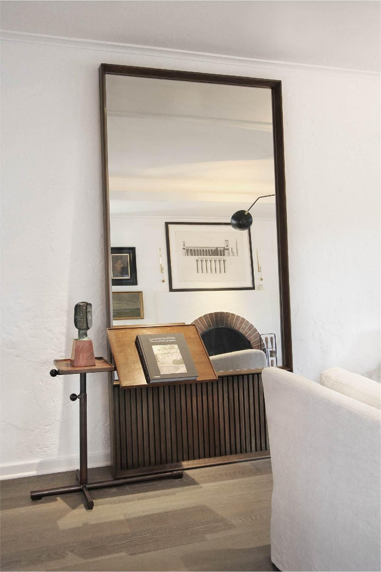 American Oslo Rectangular Floor Mirror in Walnut For Sale