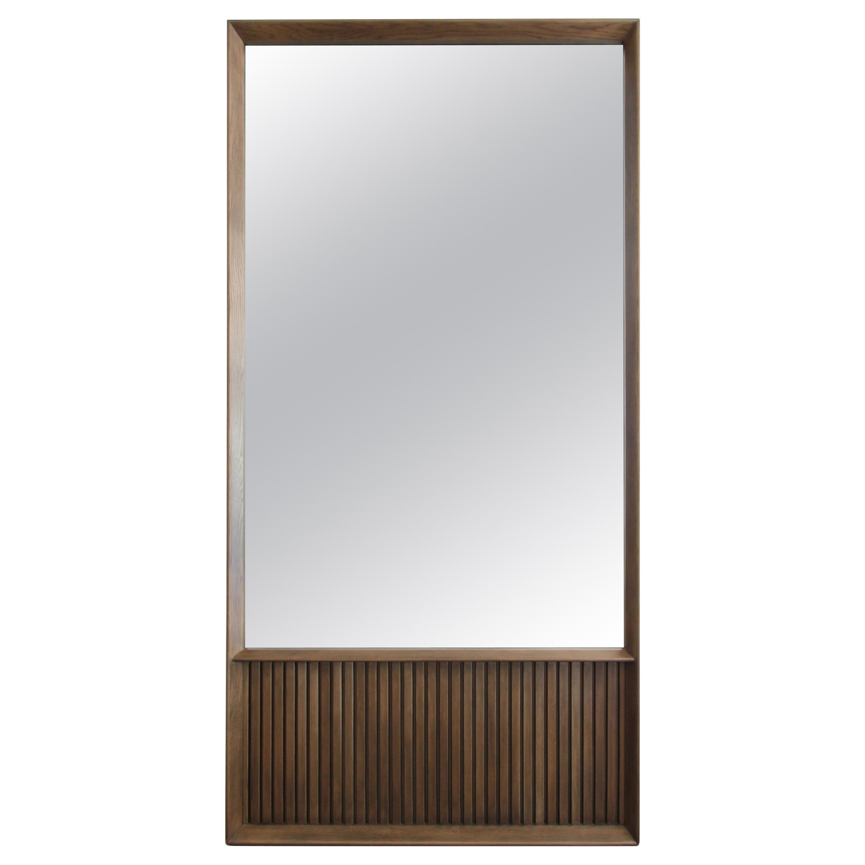 Oslo Rectangular Floor Mirror in Oak