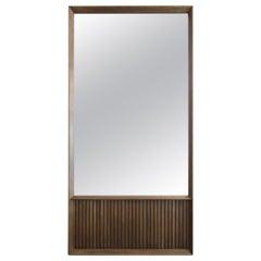 Oslo Rectangular Floor Mirror in Walnut