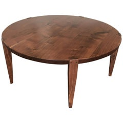 Oslo Round Coffee Table in Oregon Walnut by Studio Moe