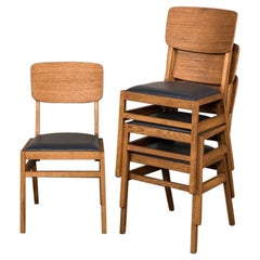 Oslo Stacking Cafe Chairs, 20th Century