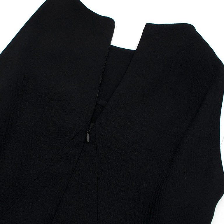 Women's Osman Black Long Dress with Leather Collar estimated SIZE XS-S For Sale