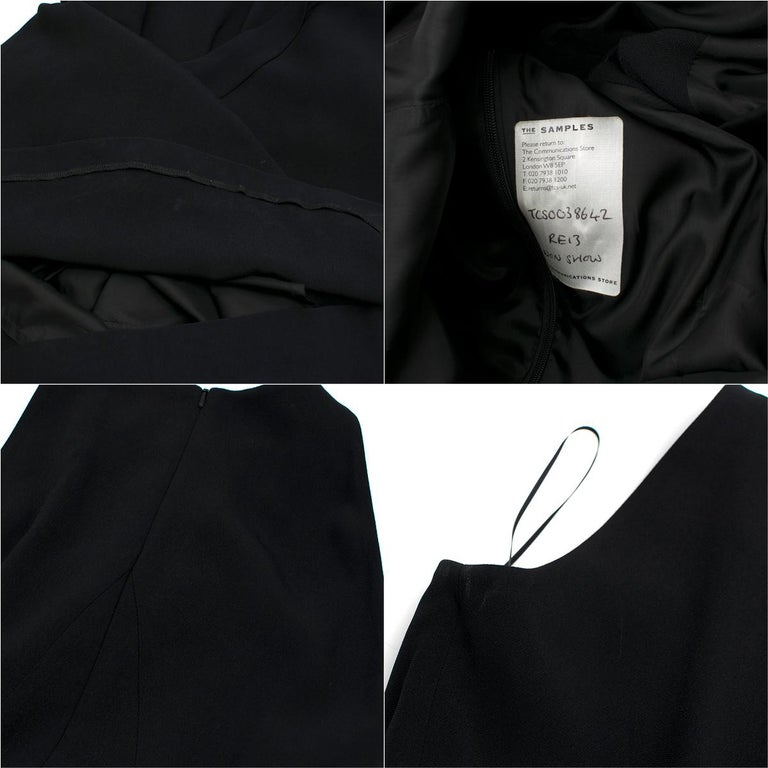 Osman Black Long Dress with Leather Collar estimated SIZE XS-S For Sale 4