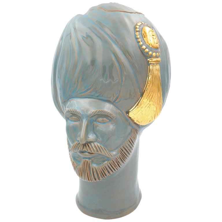 Osman, Gold Crita Ceramic Vase from Les Ottomans For Sale