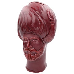 Osman,' Red Crita Ceramic Vase from Les Ottomans