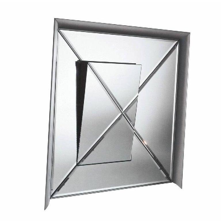 Osmond Aluminium Framed Mirror by Pietro Derossi for Driade For Sale