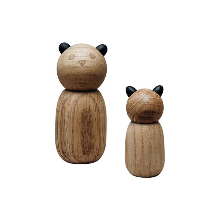 Oso De Anteojos in white oak and blackened ears, made in Colombia / Fauna Series For Sale