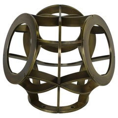 Osseous Sconce in Brass by Cam Crockford