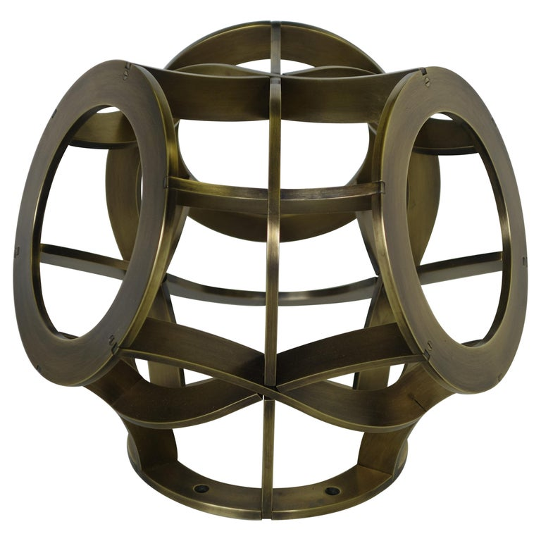 For Sale: Brown (Antique Brass) Osseous Sconce in Brass by Cam Crockford