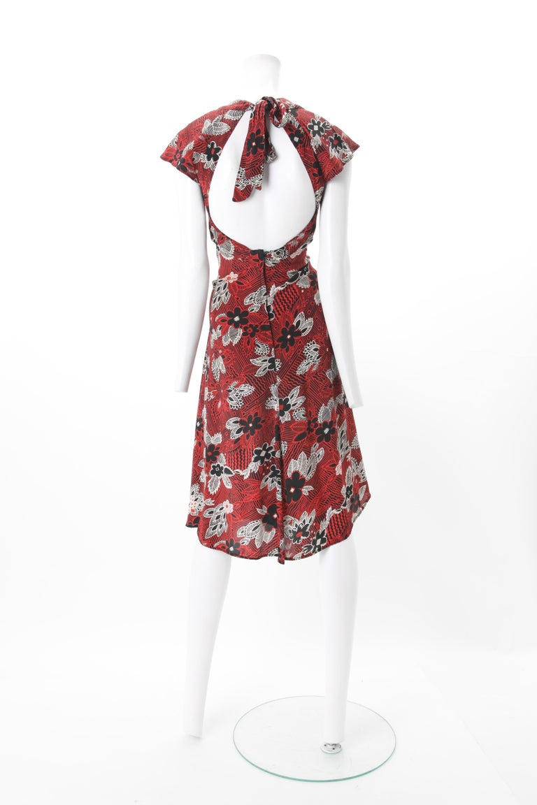 Ossie Clark Celia Birtwell Print Dress c. 1970s Worn by Julia Roberts In Good Condition For Sale In New York, NY