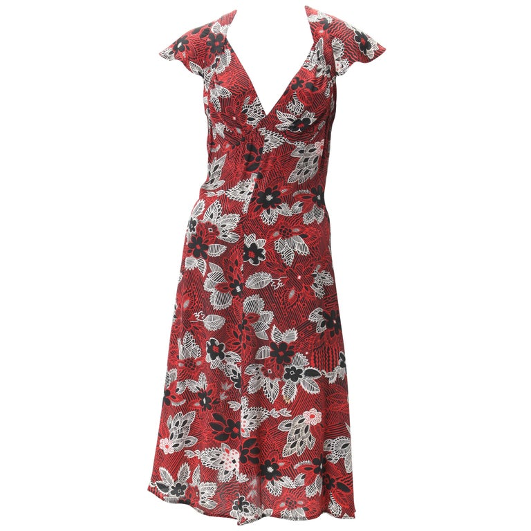 Ossie Clark Celia Birtwell Print Dress c. 1970s Worn by Julia Roberts For Sale