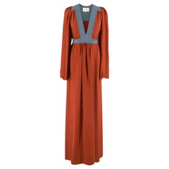 Ossie Clark Colour Block Silk Maxi Dress 8 XS