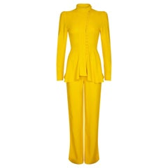 Ossie Clark For Radley 1970s Trouser Set In Canary Yellow