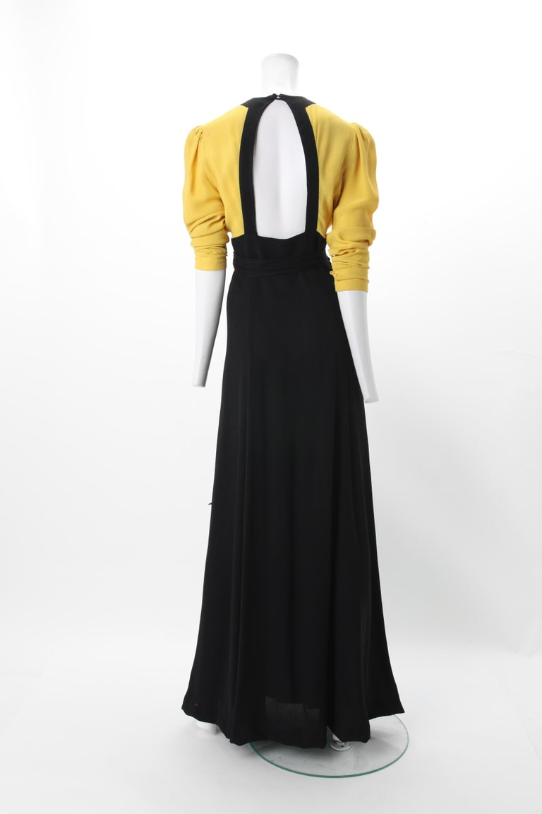 Ossie Clark Moss Crepe Wrap Dress c. 1970s UK 38 In Good Condition For Sale In New York, NY