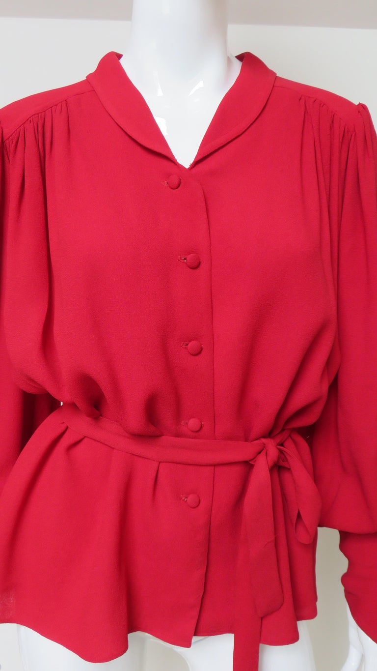 Ossie Clark Quorum Bohemian Blouse In Good Condition For Sale In Water Mill, NY