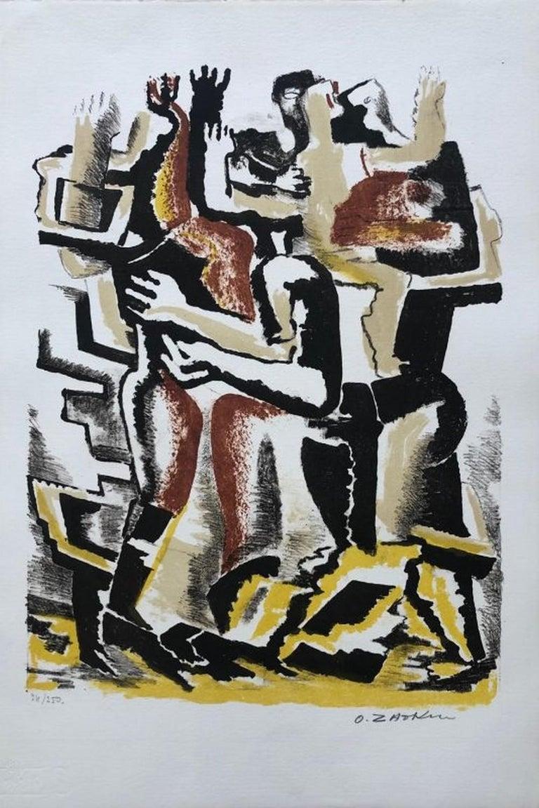 Ossip Zadkine Abstract Print - Couple