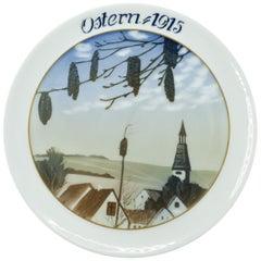 Ostern 1915, Original Artistic Ceramic Plate by Julius Van Guldbrandsen