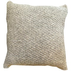 """Ostia"" Handmade Wool Grey Pillow"