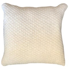 """Ostia"" Handmade Wool Off-White Pillow"
