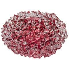 Ostreum in Heliotrope, a Unique Pink Glass Centerpiece by Katherine Huskie