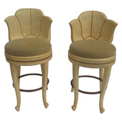 Ostrich Leather Bar Stools