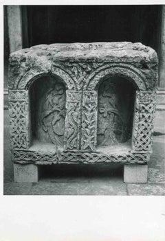 Roman Tomb in Venice - Vintage b/w Photo by Osvaldo Bohm - Early 20th Century