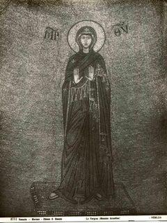 The Virgin, Murano - Vintage b/w Photo by Osvaldo Bohm - Early 20th Century