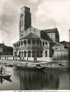 Vintage View of Murano - Vintage b/w Photo by Osvaldo Bohm - Early 20th Century