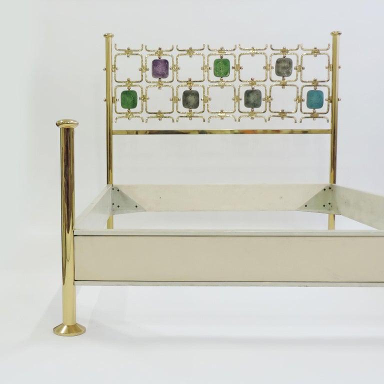 Italian Osvaldo Borsani and Arnaldo Pomodoro Double Bed Model No. 8604, Italy, 1962 For Sale