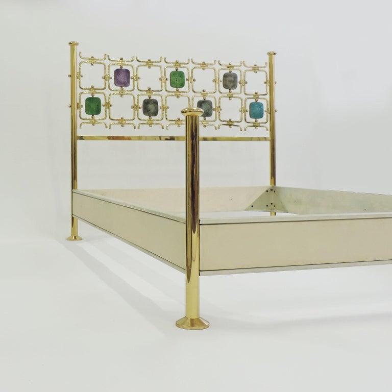 Enameled Osvaldo Borsani and Arnaldo Pomodoro Double Bed Model No. 8604, Italy, 1962 For Sale