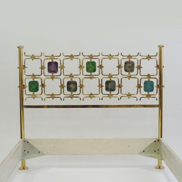 Metal Osvaldo Borsani and Arnaldo Pomodoro Double Bed Model No. 8604, Italy, 1962 For Sale