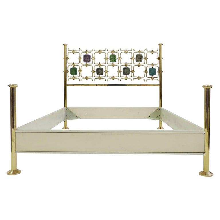 Osvaldo Borsani and Arnaldo Pomodoro Double Bed Model No. 8604, Italy, 1962 For Sale
