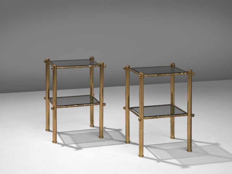 Osvaldo Borsani & Arnaldo Pomodoro Elegant Bed with Brass Details For Sale 2