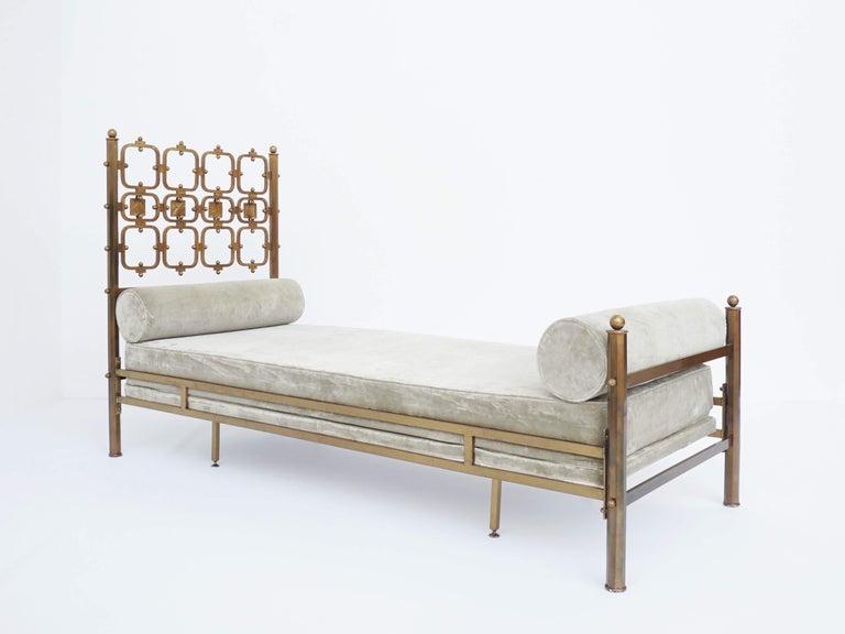 Mid-Century Modern Osvaldo Borsani Atelier and Analdo Pomodoro Cast Brass Artist Day Bed For Sale