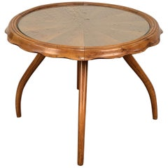 Osvaldo Borsani Blond Walnut Centre Table, Coffee Table, Italy, 1940s