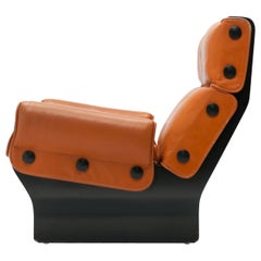 Osvaldo Borsani 'Canada' Lounge Chair by Tecno in Original Leather